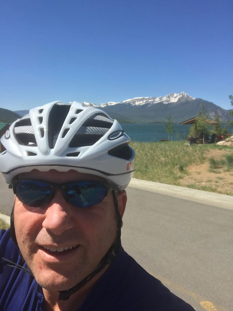 #BeActive riding at 9000 ft, Dr. James Ferrari
