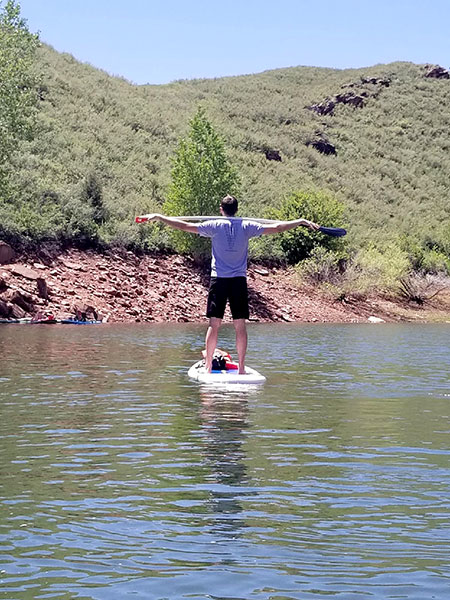 #BeActive and paddle board in colorado.