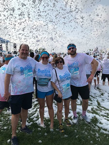 #BeActive at the Bubble Run in Denver.
