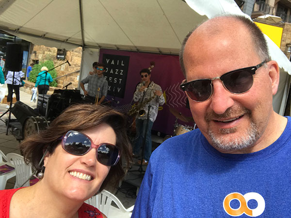 #BeActive at the Vail jazz fest. Dr. Andy H. Motz