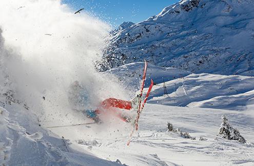 Hurt Knee Skiing
